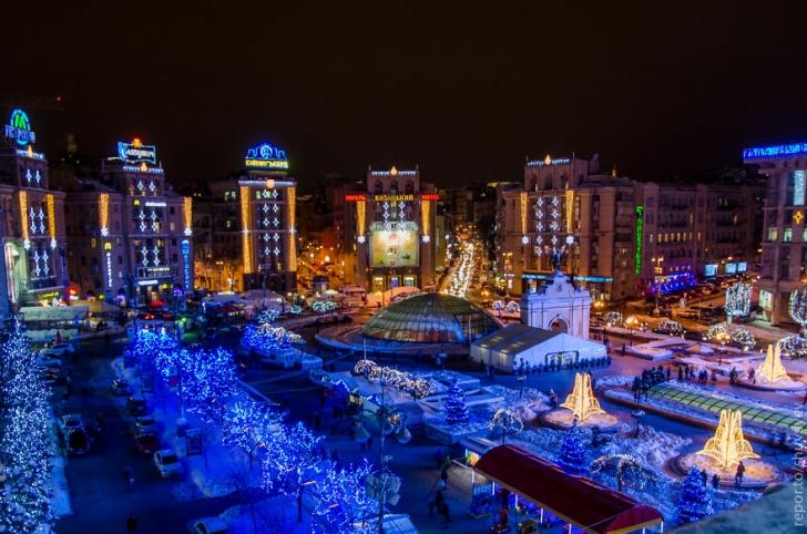 Ukrayna'nın başkenti ve en büyük kenti olan Kiev yeni yıla hazır.