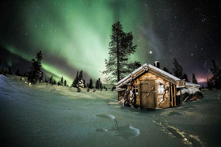Finlandiya'da kutup gecesi