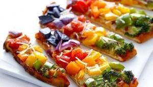 Sebzeli Gökkuşağı Pizzası Tarifi