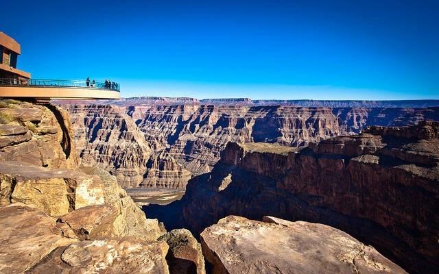 Arizona'da kanyon yürüyüşü