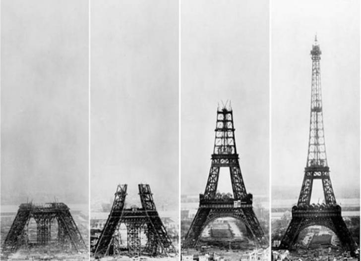 1887'de yapımına başlanan Eyfel Kulesi aşama aşama fotoğraflanmış.