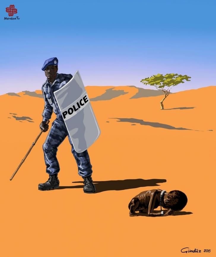 İllüstrasyon İle Ülkeler Ve Polislere Anlamlı Bakış (Tabi Ki Biz De Varız)