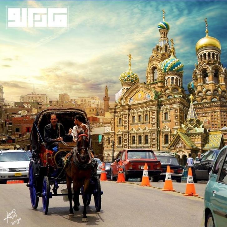 Saint Basil's Katedrali - Rusya / Cairo sokakları - Mısır