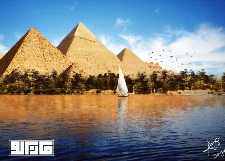 Piramitler'in eski görünümü - Mısır