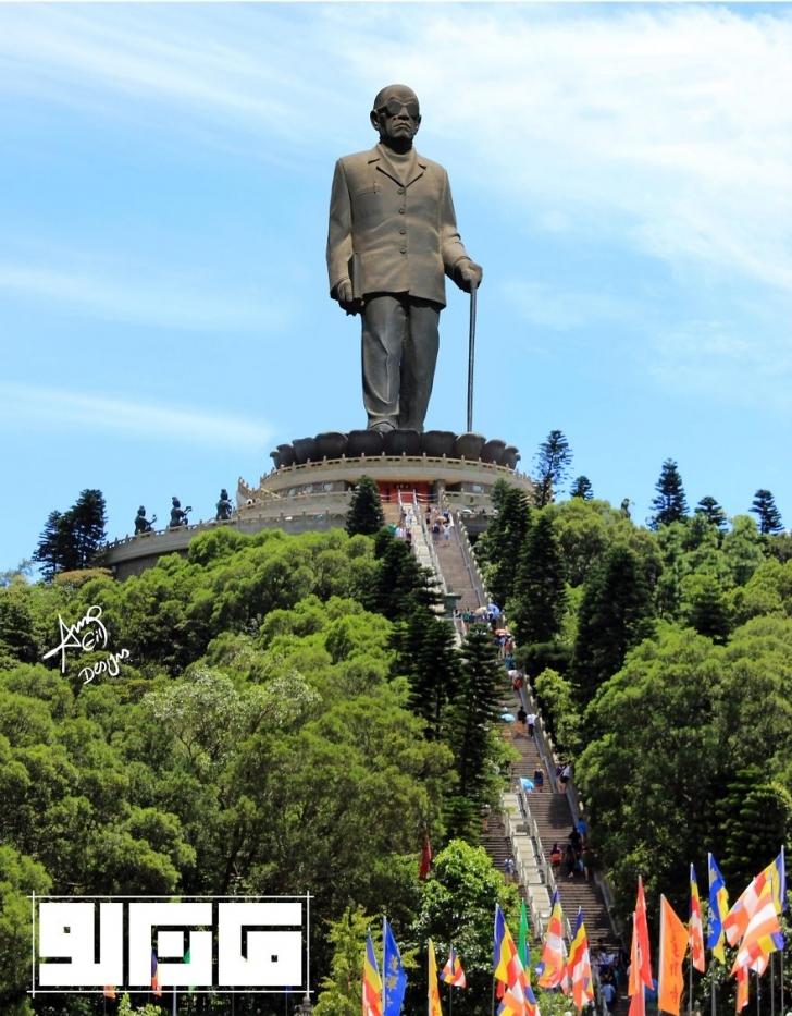 Nobel ödüllü Mısırlı yazar Necib Mahfuz Heykeli - Mısır / Büyük Buda Heykeli - Çin