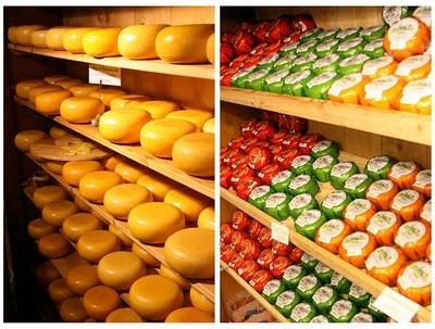 Süt ve süt ürünü severler için cenettir. Sadece bunlar için kurulmuş pazarlar, süpermarketlerde iki koridor boyunca peynir reyonları vardır. Sütün o kadar çok çeşidi olduğunu görmek şaşırtıcıdır.