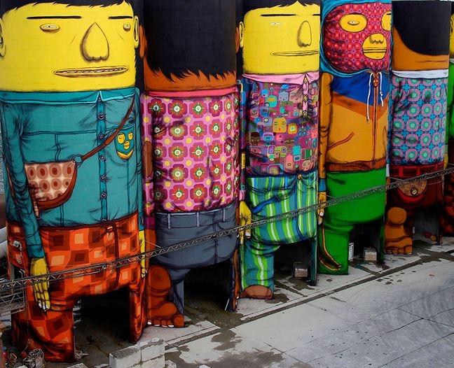 Brezilya Sokaklarını Rengarenk Boyayan İkiz Graffiti Sanatçıları: OS GEMEOS