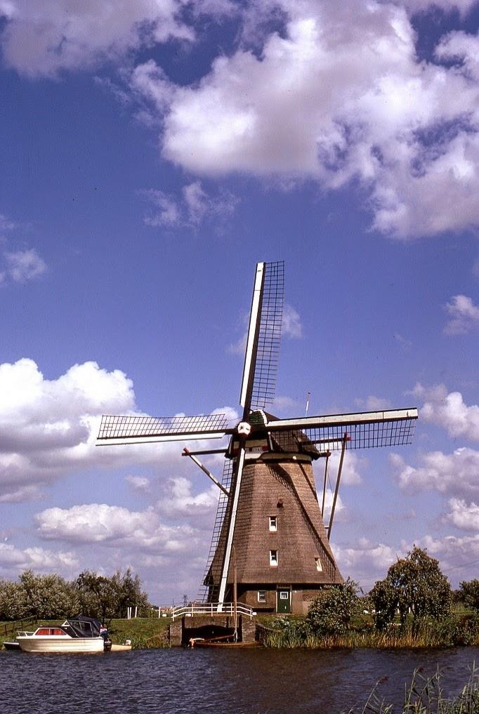 Ünlü yel değirmenlerinden biri - Hollanda
