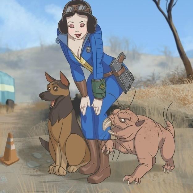 Disney Prensesleri Fallout'un Zorlu Wasteland'inde Olsalardı Nasıl Olurlardı?