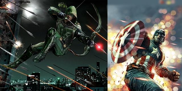 Marvel - DC Kapışmasında 1. Round: Green Arrow vs Captain America