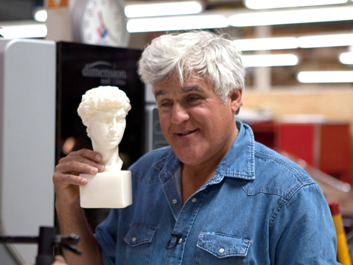 ABD'li Meşhur Showman Jay Leno Gerçek Bir 3D Yazıcı Hayranı