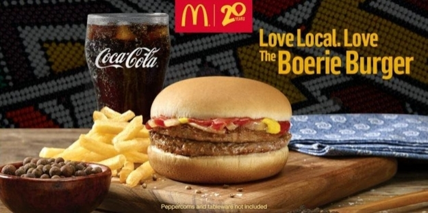 13. Güney Afrika: Mc Donalds'tan iki cheeseburger