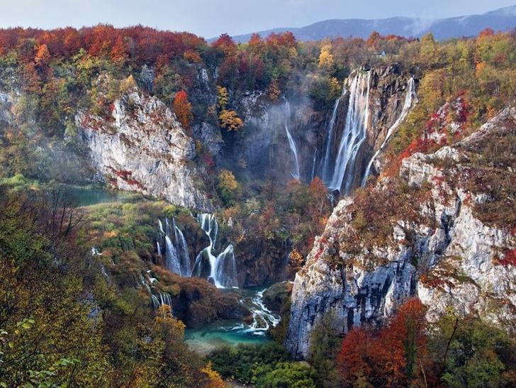 8. Sonbaharda Şelaleler, Plitvice Gölü Ulusal Parkı, Hırvatistan