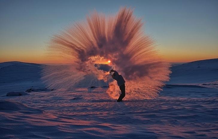 Kutup Dairesi Yakınlarında Gündoğumunda Eksi 40 Derece