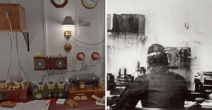Marconi odası, yolcuların en gelişmiş teknolojiyle mesaj yollayabilmesini sağlıyor.
