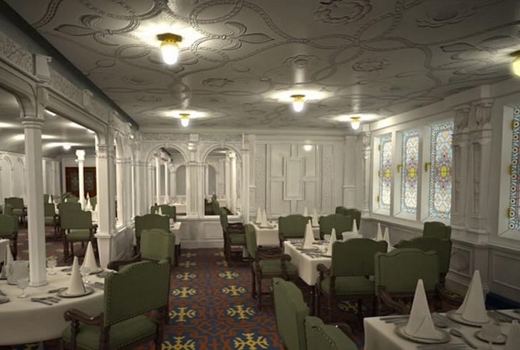 Birinci sınıf yemek salonu.