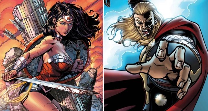 Marvel - DC Kapışmasında 4. Round: Ölümsüz Amazon Savaşçısı Wonder Woman, Nors Tanrısı Thor'a Karşı