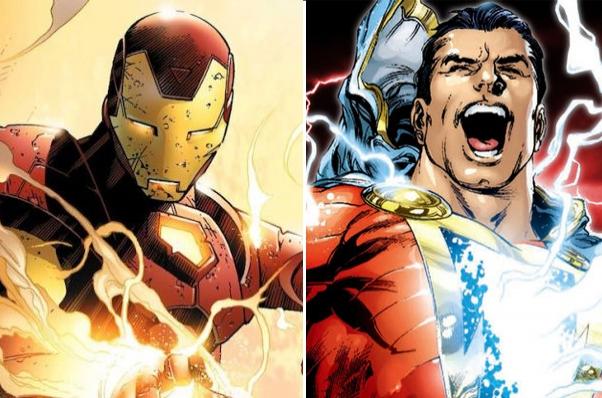 Marvel DC Kapışmasında 6. Round: Zengin Züppe Iron Man (nam-ı diğer Tony Stark), Büyünün Efendisi Shazam'a Karşı