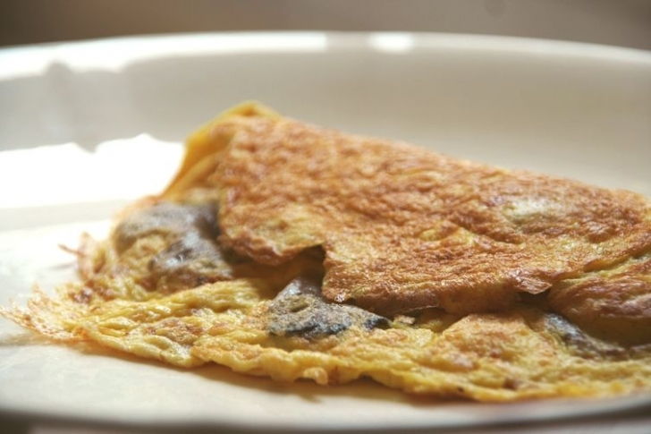 İstiridye Mantarlı Omlet