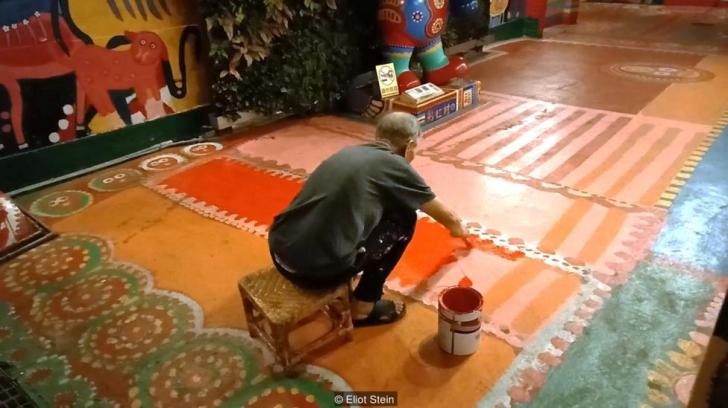 Bu köyü 96 yaşındaki bir ressam kurtardı