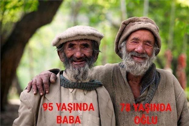 Ortalama yaşam süreleri 120 yıl olan Hunza Türkleri