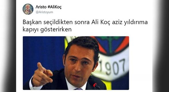 Aziz Yıldırım gitti, Ali Koç geldi. Sosyal medya bunlara güldü!